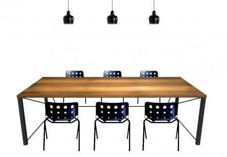 会議テーブル合成2φ12